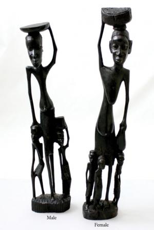 Over-Sized Ebony Skeleton & Children